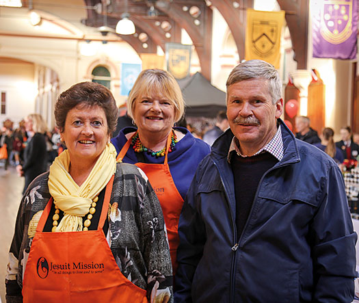 Mary with other volunteers at the Maytime Fair