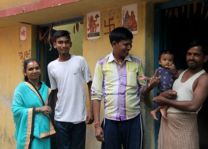 Roshan and his family in India
