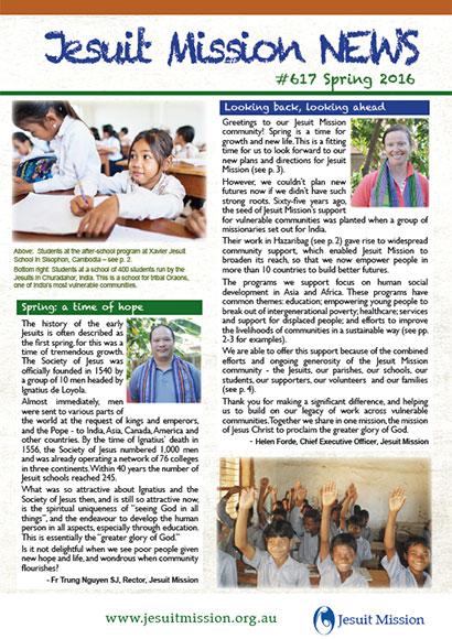 Jesuit Mission News cover