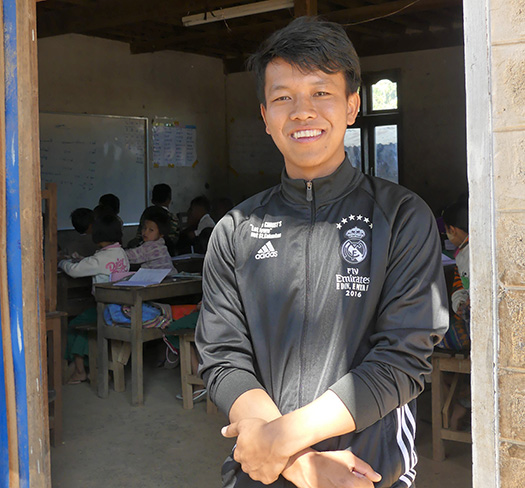 Paul, a student from Myanmar